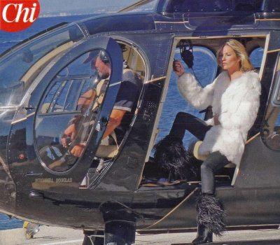 Kate Moss a Ischia in pelliccia per uno spot