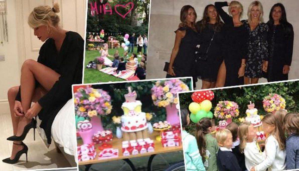 Alessia Marcuzzi festa di compleanno a Londra per Mia