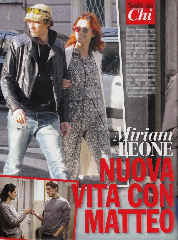 Miriam Leone baci appassionati con Matteo Martari