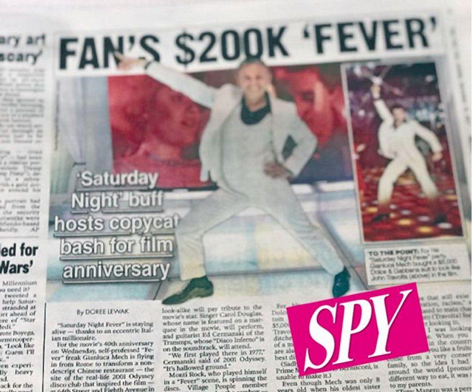 Gianluca Mech fan della Febbre del Sabato sera spende 200.000 dollari
