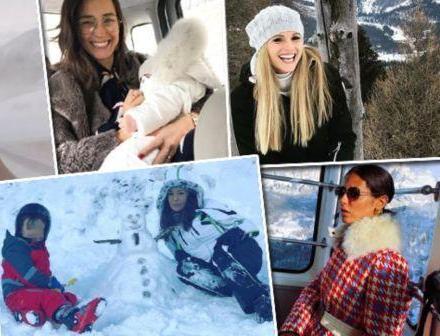 Vacanze sulla neve per tanti Vip