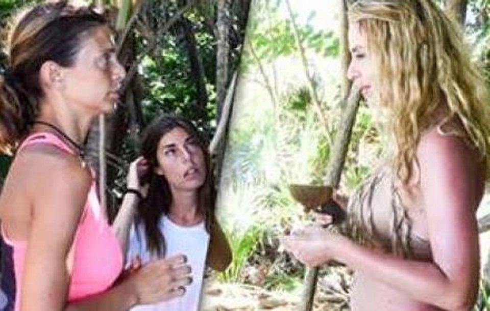 Isola Valeria Marini litiga con Alessia Mancini