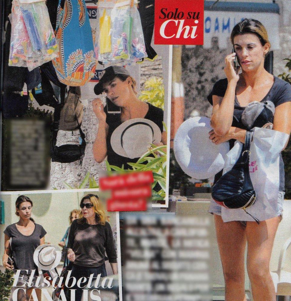 Elisabetta Canalis e Ilary Blasi shopping al mercato
