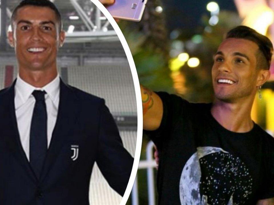 La Credenza Ronaldo : Marco carta la mia somiglianza con cristiano ronaldo fan in delirio
