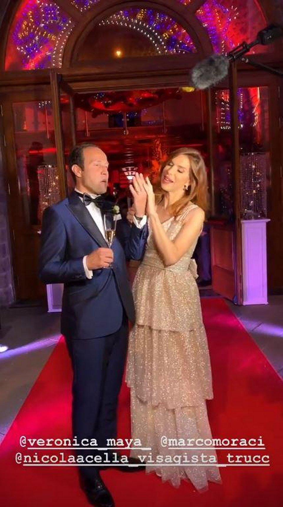 Veronica Maya sposa per la terza volta Marco Moraci