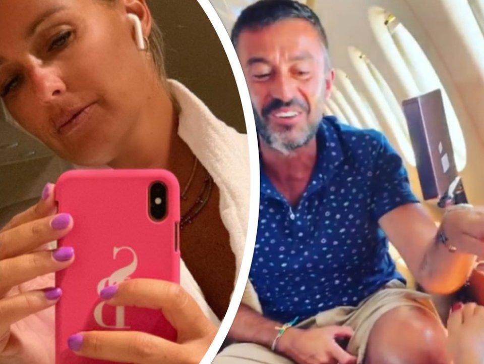 Sonia Bruganelli in viaggio su un jet privato ma un dettaglio fa impazzire il web