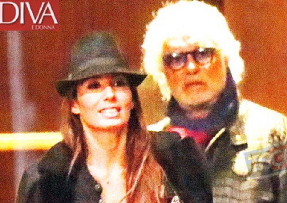 Elisabetta Gregoraci fotogratafa con Briatore dopo il rifiuto a Sanremo