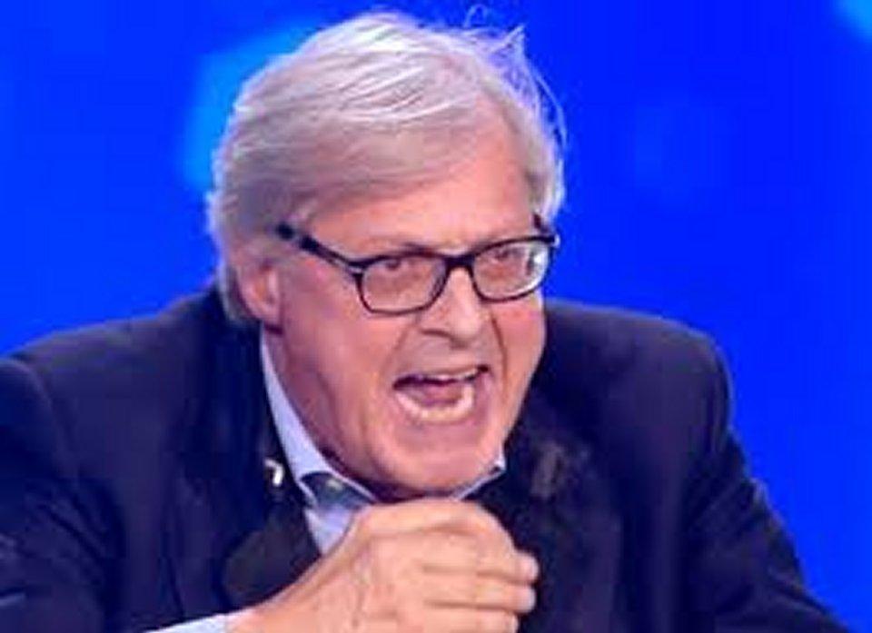 Vittorio Sgarbi va su tutte le furie al programma di Adriana Volpe in diretta tv