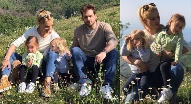 Michelle Hunziker, weekend di relax in famiglia con Tomaso e le bimbe
