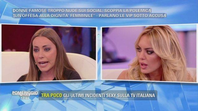 """A """"Pomeriggio 5"""" va in scena la baruffa tra Karina Cascella e Elena Morali"""