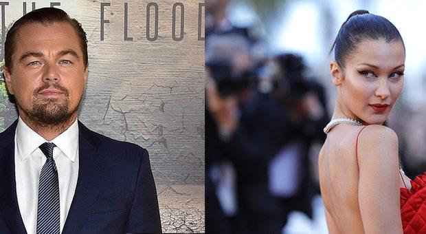 Leonardo Di Caprio, flirt a Cannes con la modella Bella Hadid