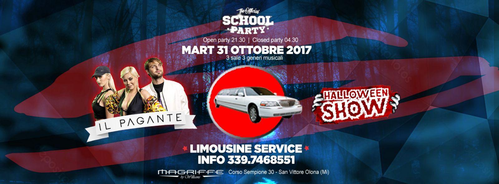 Martedì 31 Ottobre 2017- THE HALLOWEEN SHOW Guest IL PAGANTE L'Unico Ufficiale School Party di Legnano e provincia da oltre 12 anni vi aspetta at @Magriffe Discoteka con un guest d'eccezione: