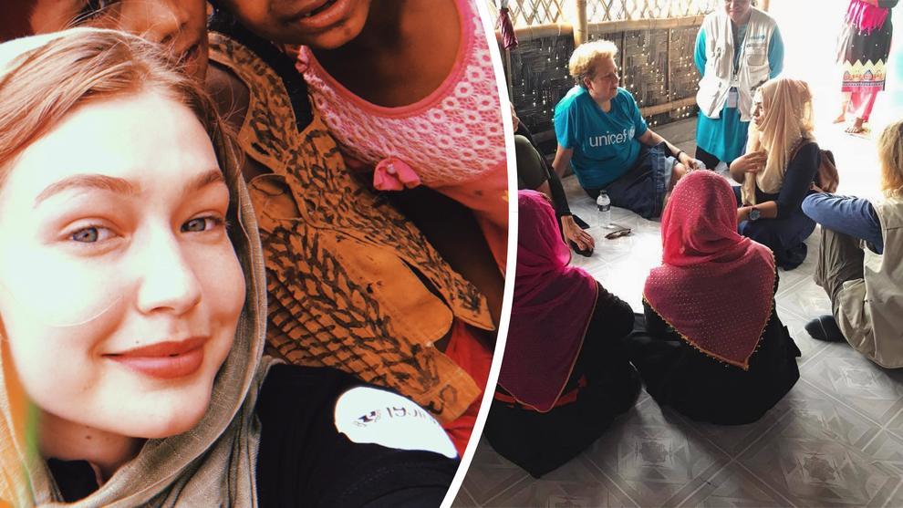 Gigi Hadid testimonial Unicef, la visita al campo di rifugiati: ecco dove