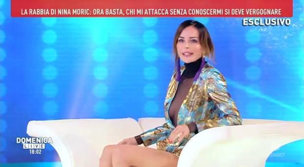 Nina Moric, confessione a Domenica Live: «Corona non può insultare la madre di suo figlio»