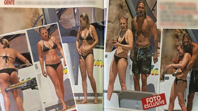 Emma in bikini al mare con un amico... vichingo