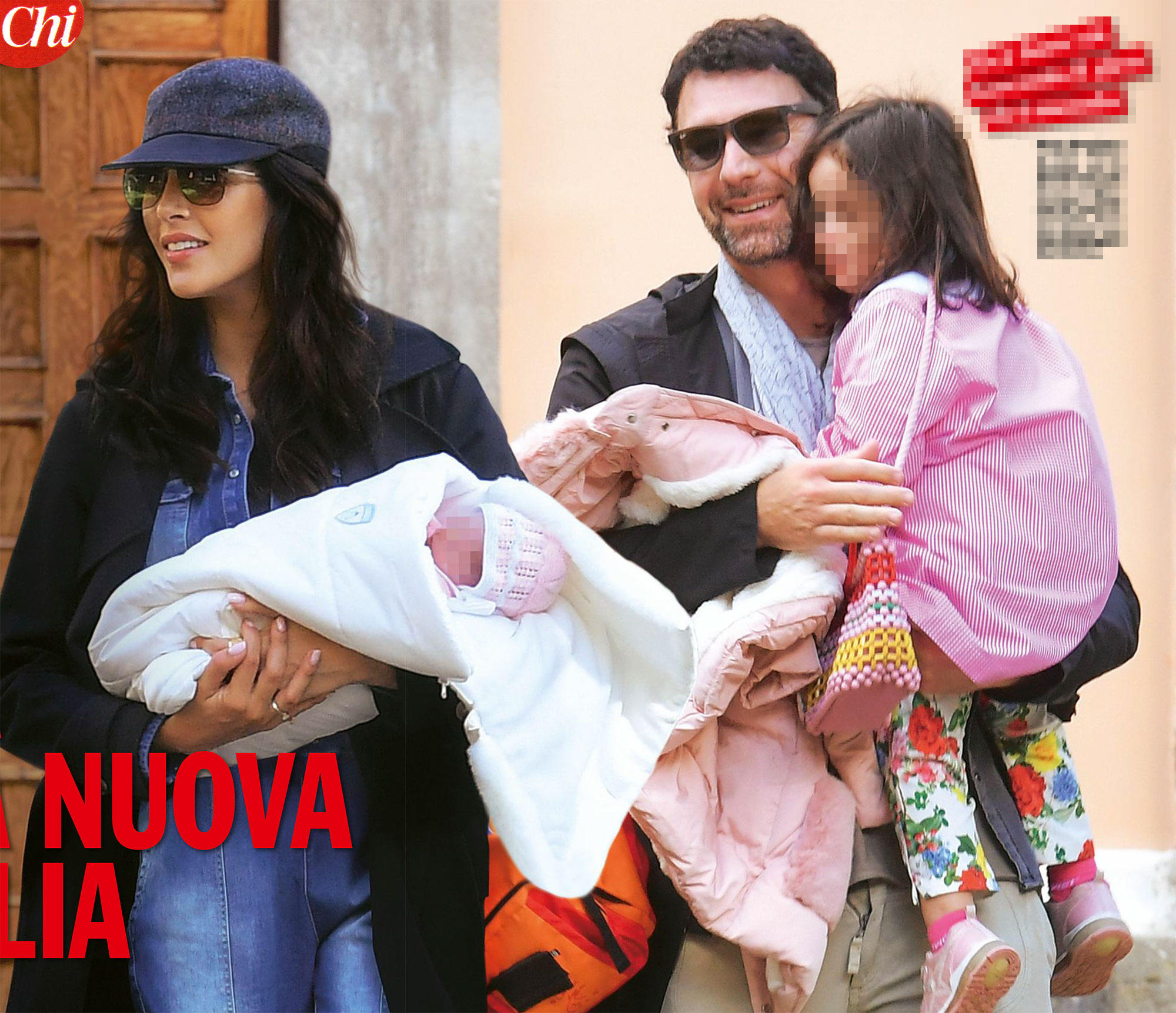 Raoul Bova felice e innamorato della nuova famiglia