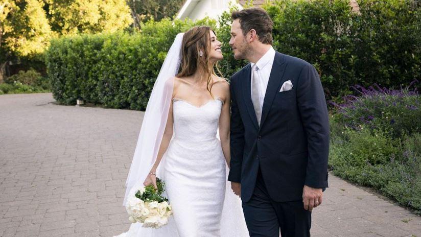 Chris e Katherine, sposi innamorati in Armani