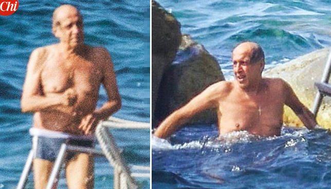 """Adriano Celentano, in attesa di """"Adrian"""" si gode un bagno rigenerante"""