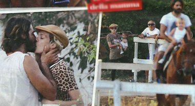 Marco Bocci e Laura Chiatti, pomeriggio a cavallo con i figli Enea e Pablo