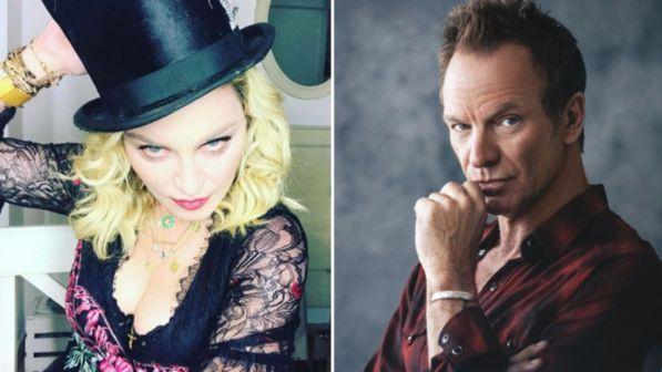 Madonna e Sting, la musica si riaccende su Canale 5 con due prime assolute