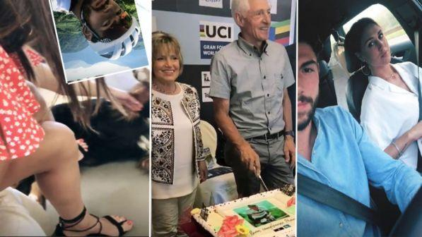Cecilia e Ignazio, piccioncini al compleanno di Francesco Moser