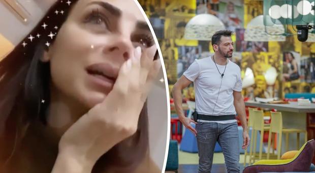 Grande Fratello Vip 2020, Serena Enardu guarda cosa fa Pago in diretta e scoppia in lacrime: «Una tortura, basta»