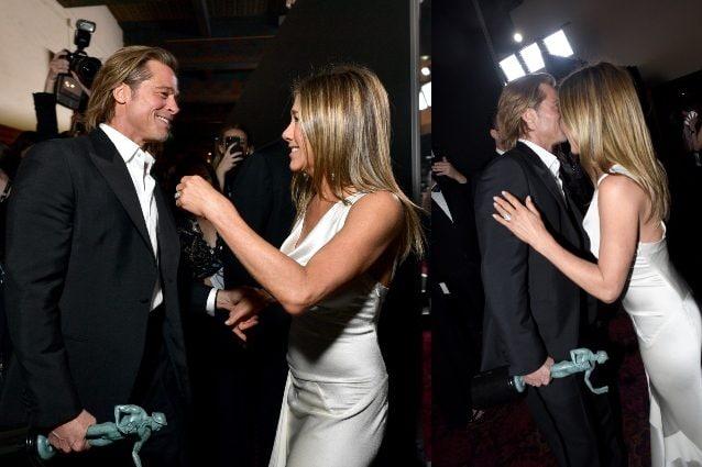 Brad Pitt e Jennifer Aniston, il bacio ai Sag Awards fa scatenare il gossip