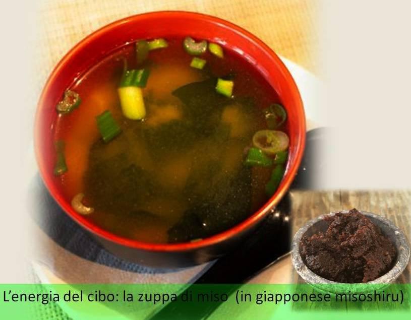 L'energia del cibo: la zuppa di miso (in giapponesemisoshiru)