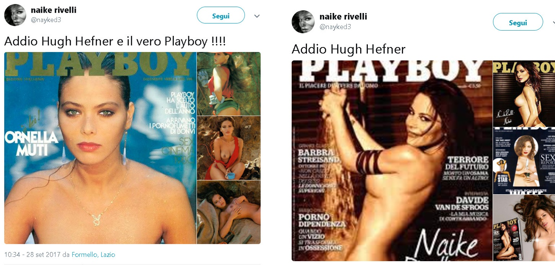 Naike Rivelli su Instagram saluta Hugh Hefner a modo suo