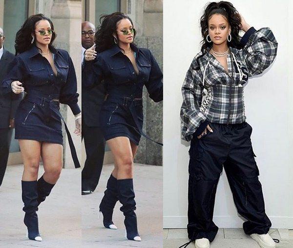 Rihanna a passeggio per New York, dalla tuta al vestito da sera