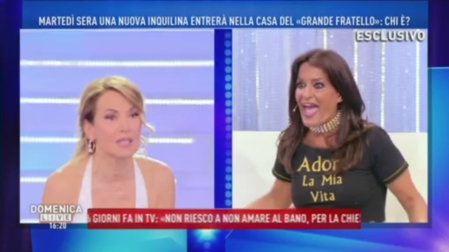 """Barbara d'Urso legge l'agenda di Aida… e spunta fuori una """"strana� frase"""