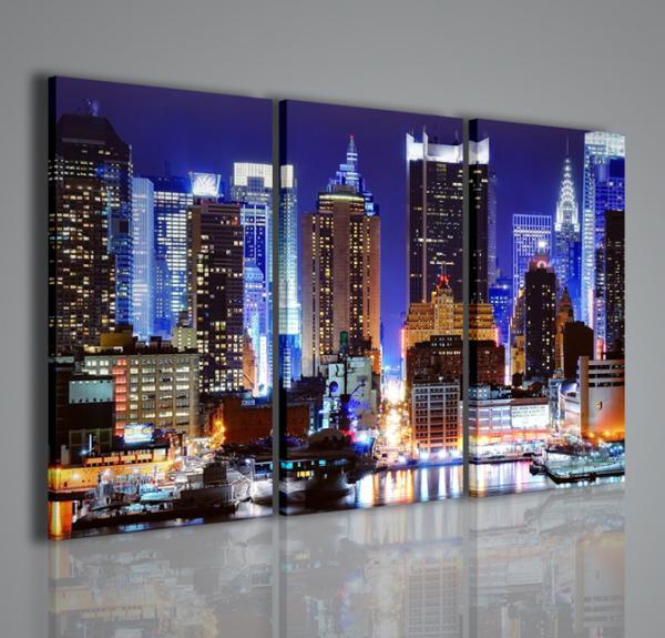 Quadri Moderni-Quadri di Città-New York Lighting