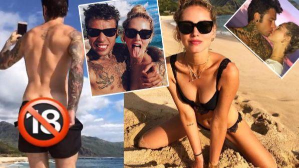 Chiara Ferragni in spiaggia a Hawaii. Che bollino rosso va sulle chiappe di Fedez....