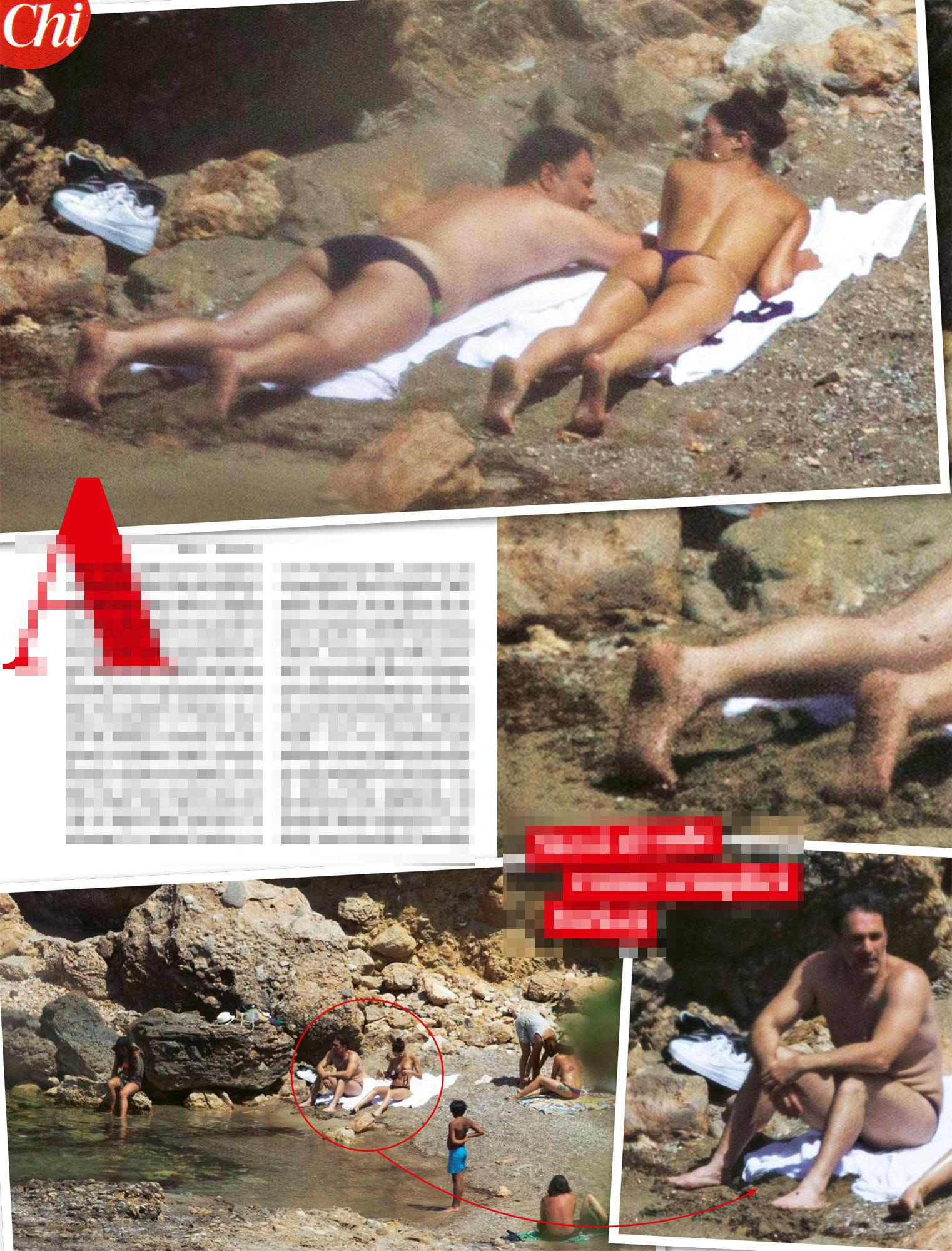 Raoul Bova, con Rocio Munoz Morales: coppia paparazzata in una caletta a Ibiza