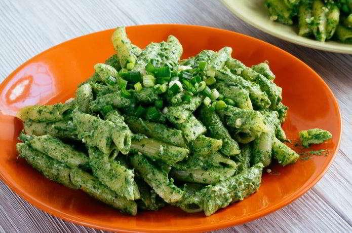 Penne alla crema di spinaci