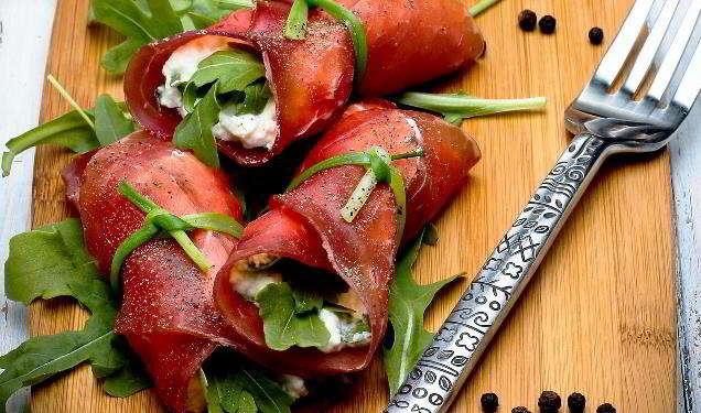 Involtini di bresaola al gorgonzola