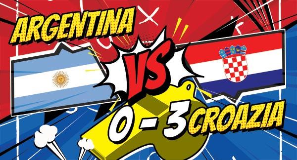 Croazia 3 - 0 all'Argentina, qualificata! Avanti anche la Francia, pari Danimarca - Australia