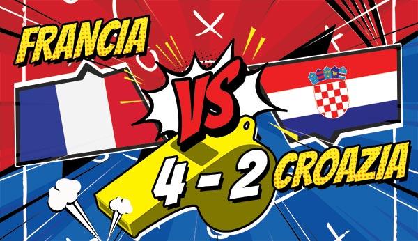 La Francia è Campione del Mondo! Croazia battuta 4 - 2, decisivi gli episodi!