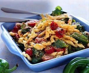 Un primo piatto da buongustaio:Fusilli gratinati con peperoni friarelli