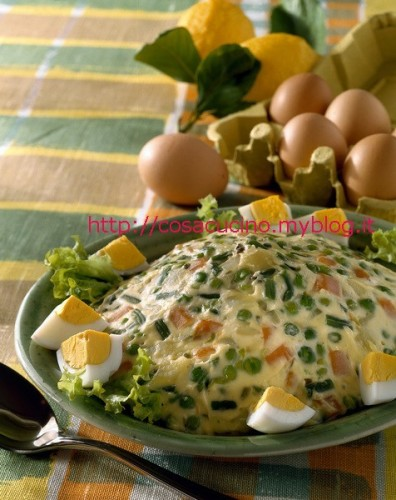 Preparazione dell'insalata russa, facile facile con foto