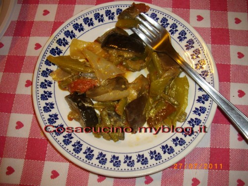 Caponata e Peperonata light di verdure - veloce e sfiziosa