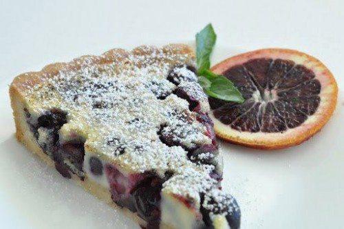 Crostata di ciliegie con crema pasticcera