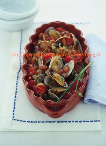 Zuppa di borlotti freschi e vongole
