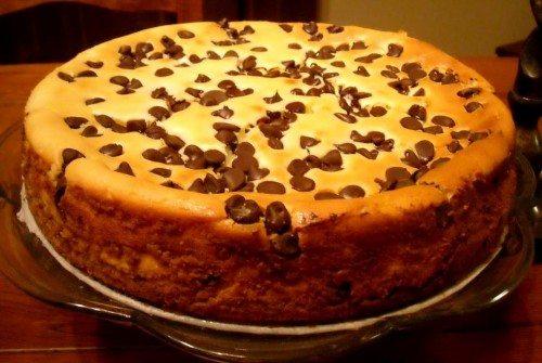 Torta di ricotta con gocce di cioccolato - Ricette di Sardegna