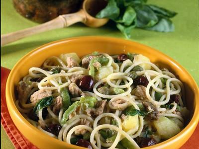 Spaghetti con tonno e patate - Ricetta semplice ma sempre gustosa