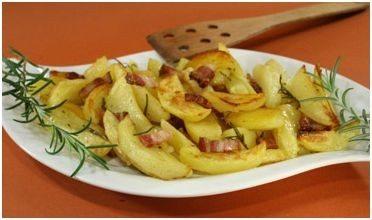 La ricetta delle patate al forno con la pancetta