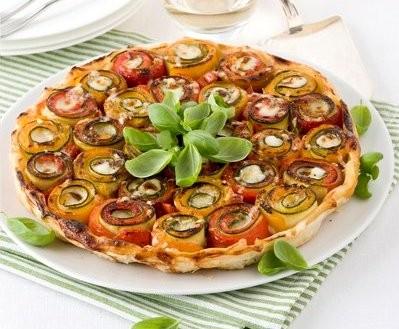 Tatin di verdure - peperoni e zucchine - Ricetta passo passo con foto
