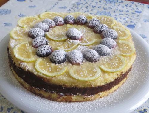 Torta al limone e cioccolato