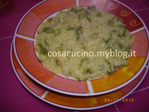 Minestra di pasta e zucchine