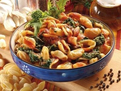 Un piatto unico... Pasta con le cime in rosso - ricetta passo passo con foto